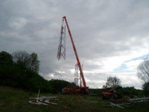 demontaż wieży gsm